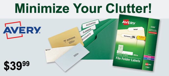 Avery - Permanent File Folder Labels