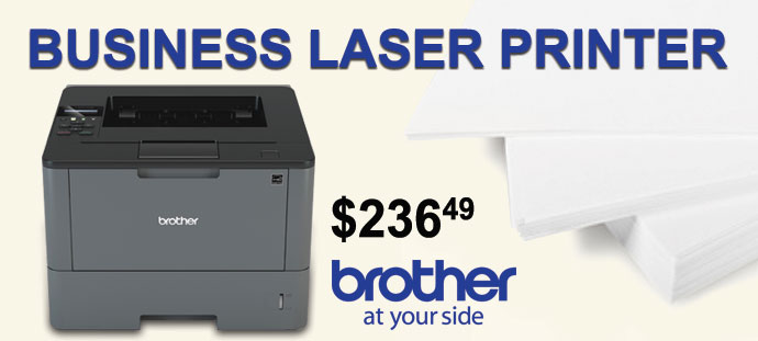 Brother - Business Laser Printer with Wireless Networking and Duplexing Printing
