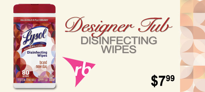 Lysol - Designer Tub Disinfecting Wipes