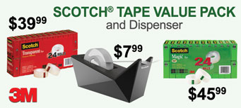 3M - Scotch® Tape Value Packs & Facet Dispenser