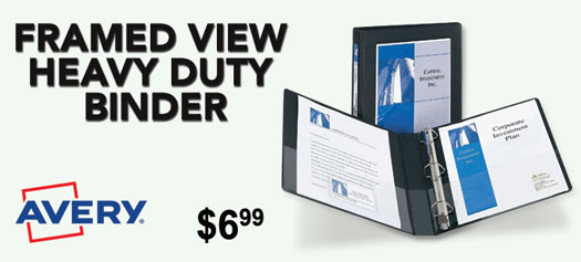 Avery - Framed View Heavy Duty Binder