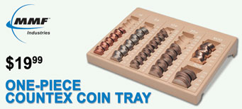 MMF - One-Piece Plastic Countex Coin Tray