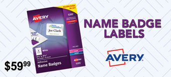 Avery - Flexible Adhesive Name Badge Labels