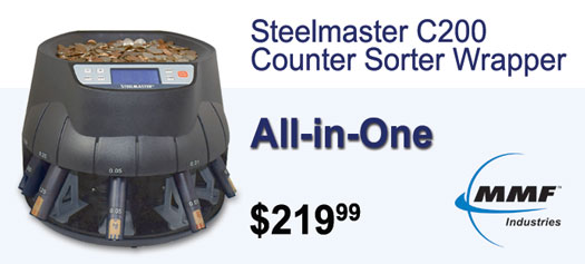 MMF - Steelmaster C200 Coin Counter-Sorter-Wrapper