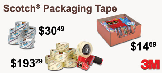 3M - Scotch Packaging Tape & Dispensers