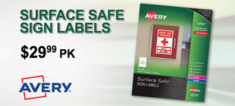 Avery - Surface Safe Sign Labels