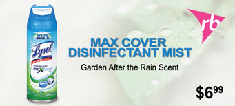 Lysol - Max Cover Disinfectant Mist