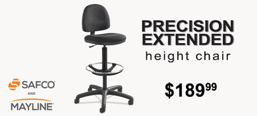 Safco-Mayline - Precision Extended Height Chair with Footring