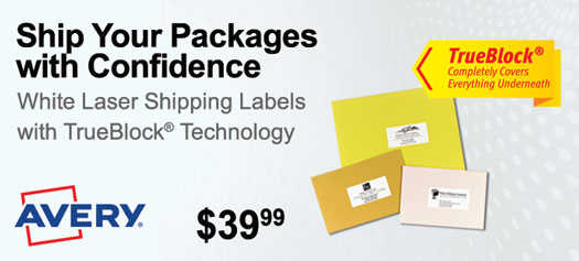 Avery - White Shipping Labels