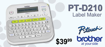 Brother - P-Touch PT-D210 Label Maker