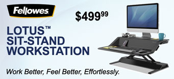 Fellowes - Lotus™ Sit-Stand Workstation