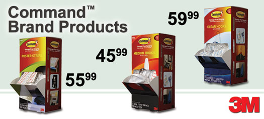 3M - Command Poster Strips & Hooks Cabinet Packs