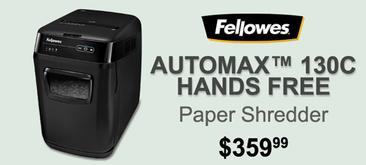 Fellowes - Automax 130C Cross-Cut Shredder