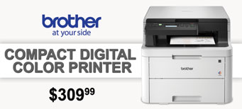 Brother - Compact Digital Color Printer with Flatbed Copy & Scan