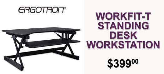 Ergotron - WorkFit-T Standing Desk Workstation