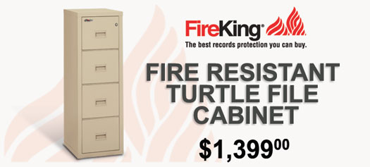 FireKing - Turtle Insulated Vertical File Cabinet