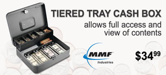 MMF - SteelMaster Tiered Tray Cash Box