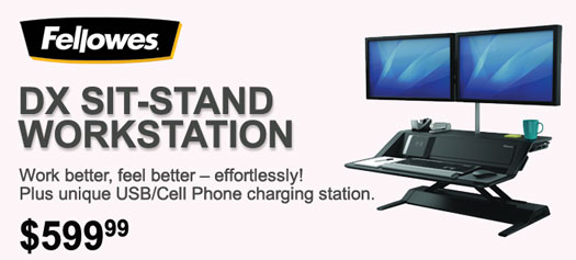 Fellowes - Lotus™ DX Sit-Stand Workstation