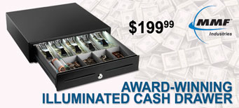 MMF - SteelMaster PayVue Illuminated Cash Drawer