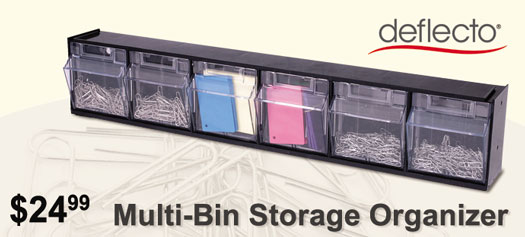 Deflecto - Tilt Bin Interlocking Multi-Bin Storage Organizer
