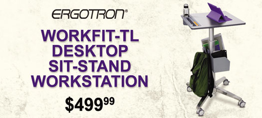 Ergotron - WorkFit-TL Desktop Sit-Stand Workstation