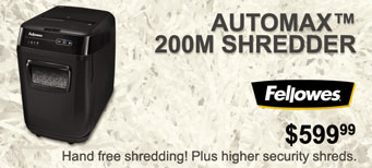 Fellowes - AutoMax™ 200M Shredder