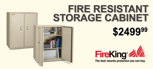 FireKing - Storage Cabinet with 1-hour fire rating