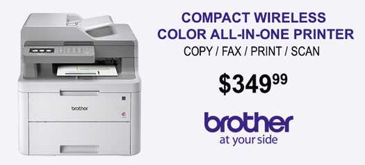 Brother MFC-L3710CW Compact Wireless, Digital Color All-in-One Printer Providing Laser Quality Results