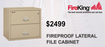 FireKing - Two-Drawer Lateral, Insulated File Cabinet