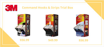Command Hooks & Strips, Trial Packs, Medium, 50/CT