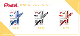 Pentel WOW! Retractable Gel Pen, Medium 0.7mm