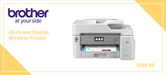 Duplex Printing and Up to 1-Year of Ink In-box