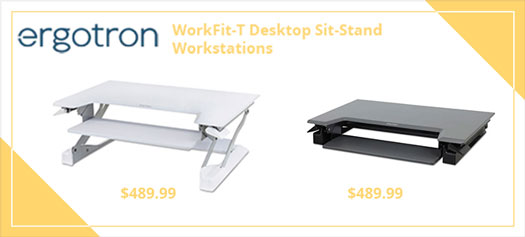 Ergotron WorkFit-T Desktop Sit-Stand Workstation