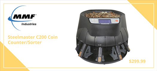 Coin Counter/Sorter, All in one, Pennies through Dollar Coins