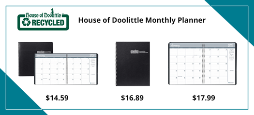 House of Doolittle Monthly Calendar Planner (These can be listed with one image. HOD26202 is a 14 month version with a Embossed Black Leatherette Cover, HOD262002 is 24 Month version with a Black Embossed Leatherette Cover and HOD262092 is a 24 month with a 2 piece Black Hard Cover)