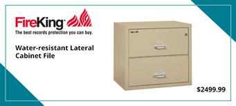 Two-Drawer Lateral File, 31 1/8w x 22 1/8d, UL Listed 350°, Ltr/Legal, Parchment
