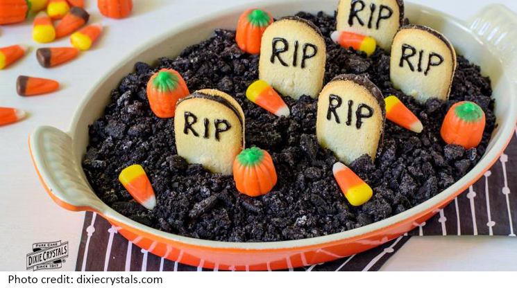 Halloween Graveyard Cheesecake Dip Recipe