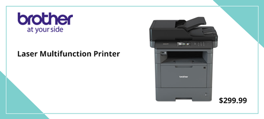 Business Laser Multifunction Printer with Duplex Printing and Networking